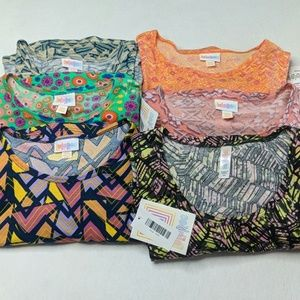 LuLaRoe XXS lot of 6 Perfect Irma Carly NWT
